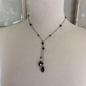 Austrian Crystal Single Lariat Neclace